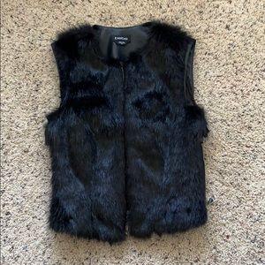 Faux Fur & leather vest